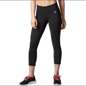 Small, Adidas, Climate low-rise black crop leggings